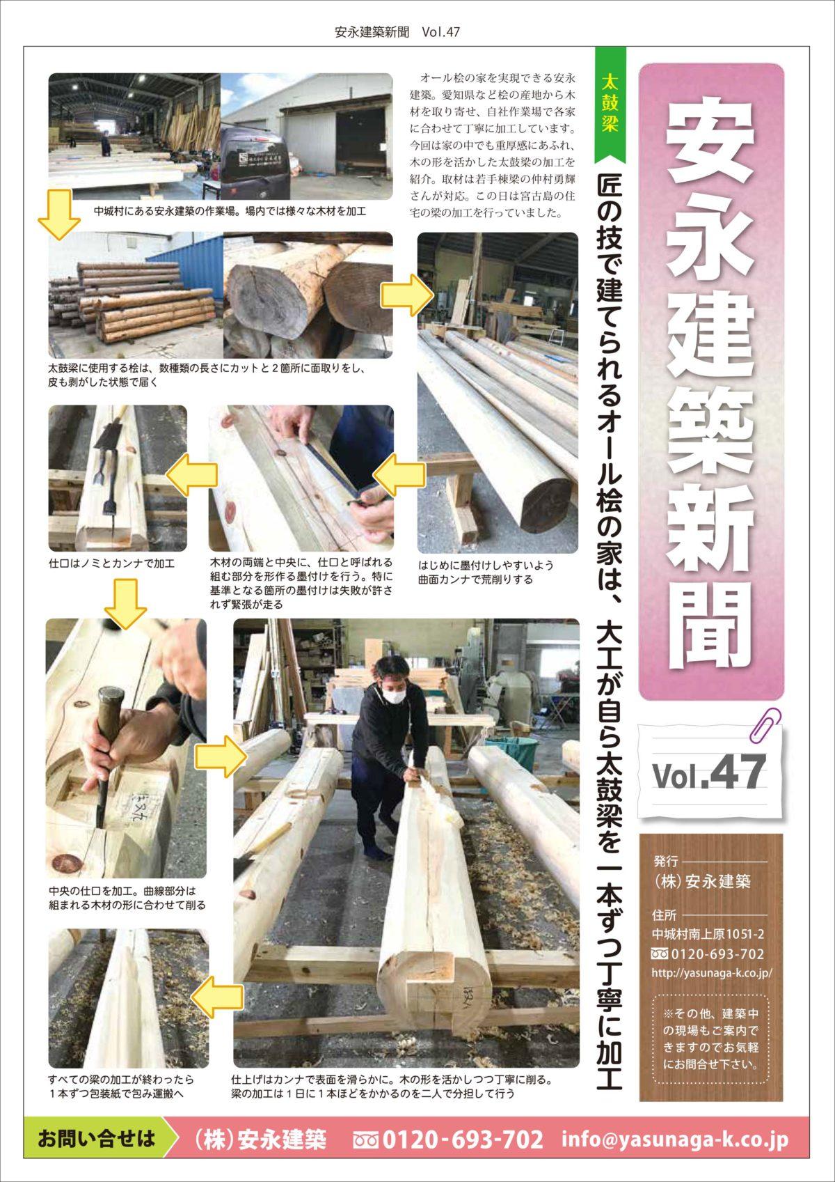 47号です! 「安永建築新聞」マンガ以外のチラシもやってます!