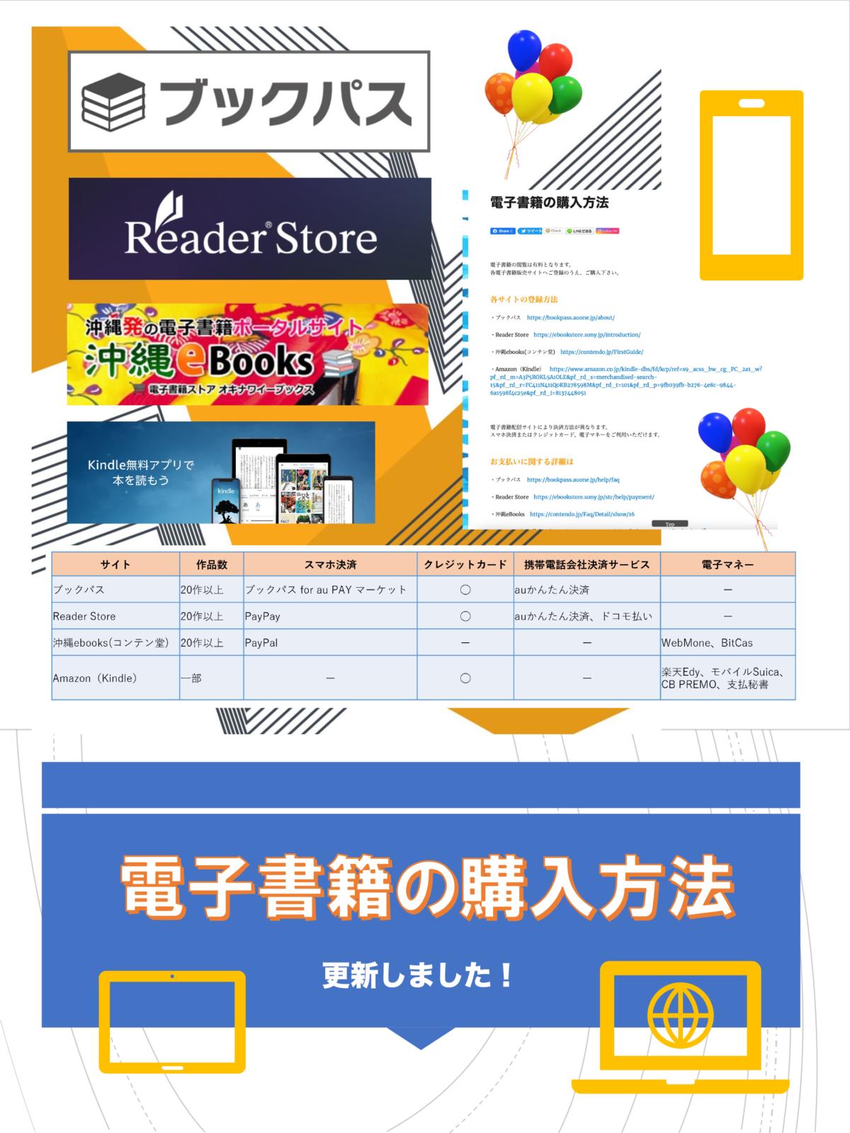 電子書籍の購入方法 更新しました!